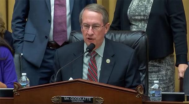 "US House Judiciary Committee Chairman Bob Goodlatte delivering his statement in Washington DC, USA, on July 25, 2018. Markup of H.R. 1872, the ""Reciprocal Access to Tibet Act of 2017"". Photo: Youtube Screenshot"