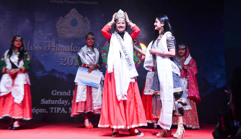 Ritika Sharma, a medical student and radiation therapist, won the Miss Himalaya Pageant 2018 crown at a modest event, held in Dharamshala, India, on October 6, 2018. Photo: TPI/Khushi Khurana
