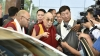 His Holiness the Dalai Lama speaking to members of the media on his arrival at Gaggal Airport in Dharamshala, India, April 25, 2018. Photo/Tenzin Jigme/DIIR